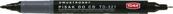Marker CD dwustronny czarny 321 p20 TOMA, cena za 1szt.