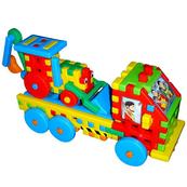 Ciężarówka z koparką klocki konstrukcyjne w folii