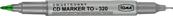Marker do CD dwustronny zielony 320 p25 TOMA/ cena za 1szt.