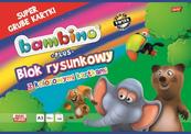 Blok rysunkowy A3 kolorowy 16k Bambino PLUS p10 MAJEWSKI/ cena za 1szt.