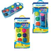 Farby akwarelowe 12kol + pędzelek PRIMA ART STARPAK
