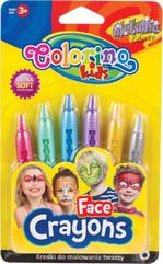 Kredki do malowania twarzy 6 kol metaliczne 65917 Colorino Kids