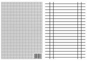 Liniuszek A5 kratka/linia 170g p10 INTERDRUK cena za 1 sztukę