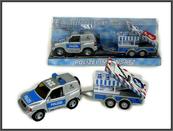 Auto Policja z lawetą pod kloszem 510613 CT-681