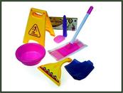 Zestaw do sprzątania ze znakiem 9 części w worku HIPO
