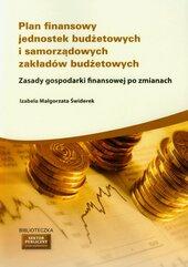 Plan finansowy jednostek budżetowych i samorządowych zakładów budżetowych
