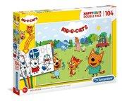Puzzle HappyColor 104 Kid e cats