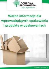 Ważne informacje dla wprowadzających opakowania i produkty w opakowaniach