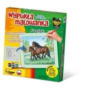 Wypukła malowanka Konie - Fryzyjski