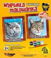 Wypukła malowanka Koty - Brytyjski + Dachowiec