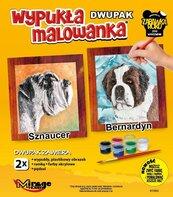 Wypukła malowanka Psy - Sznaucer + Bernardyn
