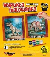 Wypukła malowanka Dinozaury - T-rex + Triceratops