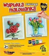 Wypukła malowanka Kwiaty - Róże + Tulipany