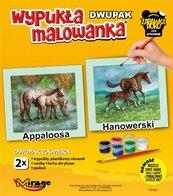 Wypukła malowanka Konie - Appaloosa + Hanowerski
