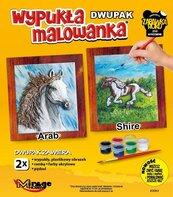 Wypukła malowanka Konie - Arab + Shire