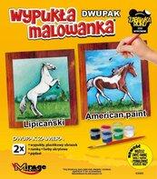 Wypukła malowanka Konie - Lipicański + American
