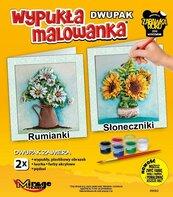 Wypukła malowanka Kwiaty - Rumianki + Słoneczniki