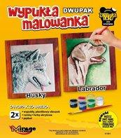 Wypukła malowanka Psy - Husky + Lablador
