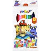 Kredki ołówkowe akwarelowe z pędzelkiem 12 kolorów