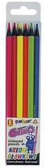 Kredki ołówkowe Fluo 6 kolorów