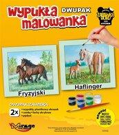 Wypukła malowanka Konie - Fryzyjski i Halfinger