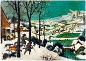 Puzzle 1000 Myśliwi na śniegu, Brurghel