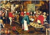 Puzzle 1000 Chłopskie wesele, Brueghel