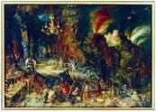Puzzle 1000 Alegoria ognia,Brueghel