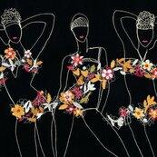Karnet kwadrat z kopertą Flower Girls