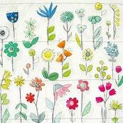 Karnet kwadrat z kopertą Floral Pattern