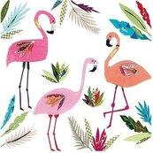 Karnet kwadrat z kopertą 3 Flamingos