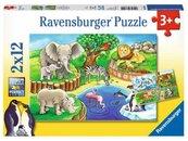 Puzzle 2x12 Zwięta w zoo