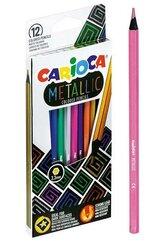 Kredki ołówkowe metaliczne 12 kolorów CARIOCA