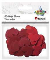 Naklejki filcowe serca 30x25mm mix kolorów 50szt