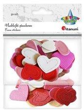 Naklejki piankowe serca mix kolorów 50szt