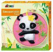 Obręcz do haftowania - Panda