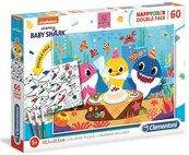 Puzzle 60 Happy Kolor dwustronne Baby Shark