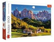 Puzzle 1500 Dolina Val di Funes, Włochy TREFL