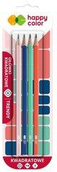 Ołówek kwadratowy Trendy HB 4szt HAPPY COLOR