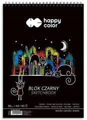 Blok A4/40K czarny Koty 80g spirala HAPPY COLOR