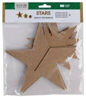Zestaw kształtów tekturowych 3D Stars 3szt