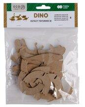 Zestaw kształtów tekturowych 3D Dino 6szt