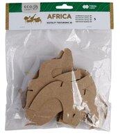 Zestaw kształtów tekturowych 3D Africa 5szt