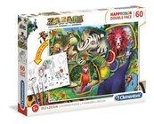 Puzzle 60 Happy Kolor Double Face Zafari