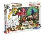 Puzzle 104 Happy Kolor Double Face Zafari
