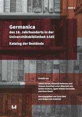 Germanica des 16 Tom 2 Jahrhunderts in der Universitätsbibliothek Łódź