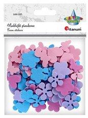 Naklejki piankowe kwiaty, motyle, serca mix 100szt