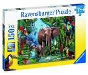 Puzzle 150 Słonie w dżungli XXL