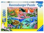 Puzzle 100 Wzburzony ocean XXL