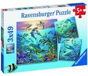 Puzzle 3x49 Podwodne życie